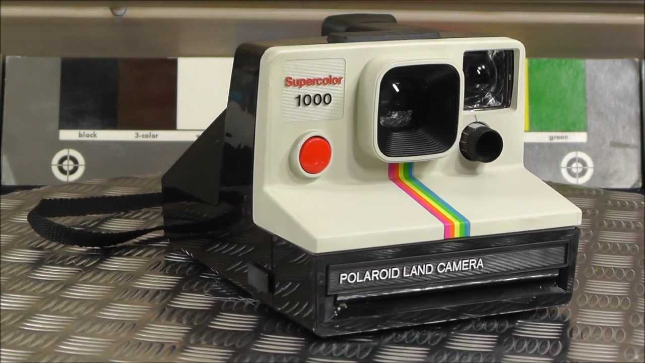 Polaroid Land Camera Supercolor 1000 SX-70 1976 Hippie Cult ...