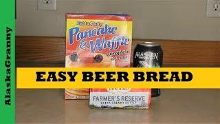 Easy Beer Bread Prepper Pantry Recipe 3 Ingredients Bread from Food Storage