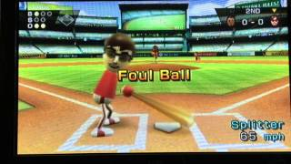 Wii baseball- Batter up!