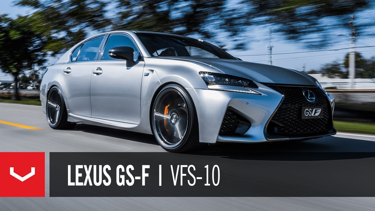lexus gs f v 8 life vossen hybrid forged vfs 10 youtube. Black Bedroom Furniture Sets. Home Design Ideas