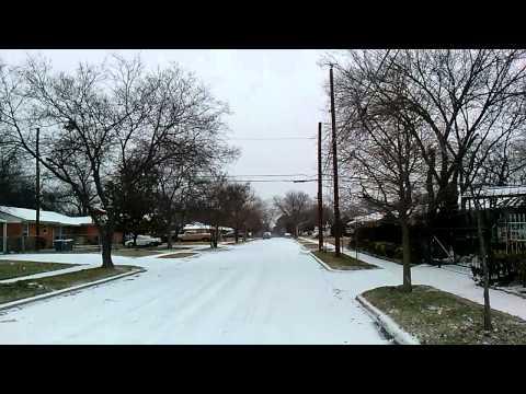 Rumbo a mi trabajo en dallas texas en febrero 2014