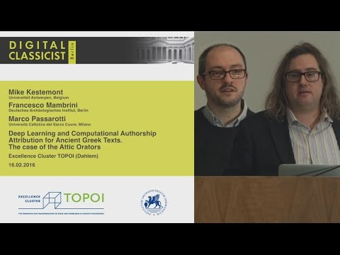 Digital Classicist Seminar Berlin (2015/2016) - Seminar 9