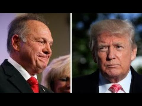 Trump breaks his silence on Roy Moore allegations