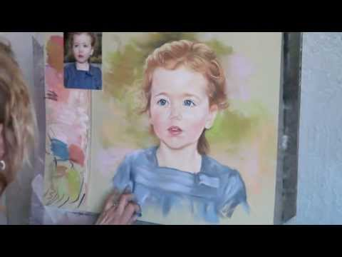 Painting a Pastel Portrait, by Graciela Bombalova
