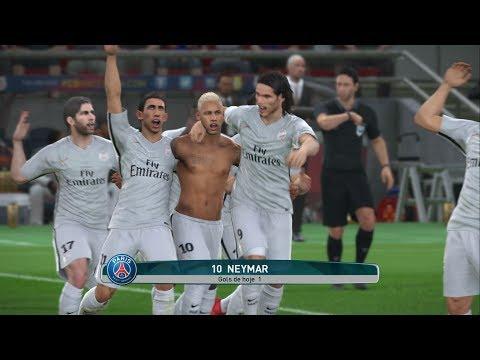 Barcelona vs Paris Saint-Germain - NEYMAR NO PSG? Gameplay Pedido por Inscritos - Camp Nou - PES 17