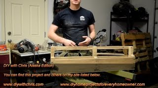 How to make a pallet book shelf  pallet projects with DIY with Chris Alaska Edition