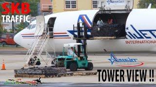 Tower View !!! Amerijet International 727-200F departing St. Kitts for Haiti