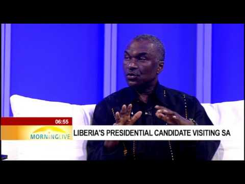 Liberia's presidential candidate visiting SA