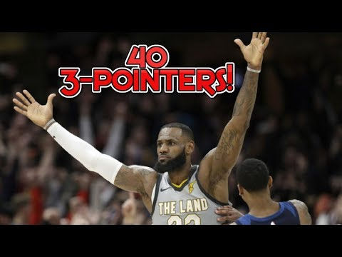 Record Breaking 40 3-Pointer Cleveland and Minnesota Game - LeBron J