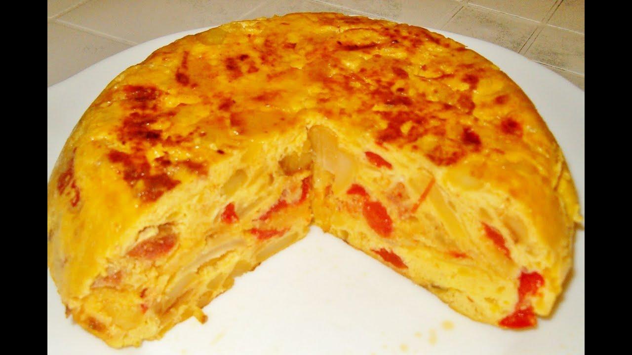 Tortilla de Patatas con Chorizo - YouTube