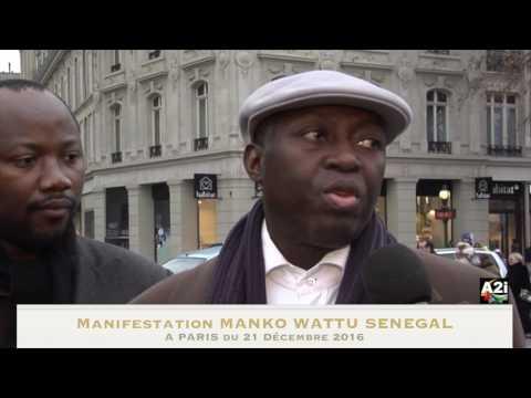 manifestation MANKOO WATTU SENEGAL à Paris du 21 Décembre 2016