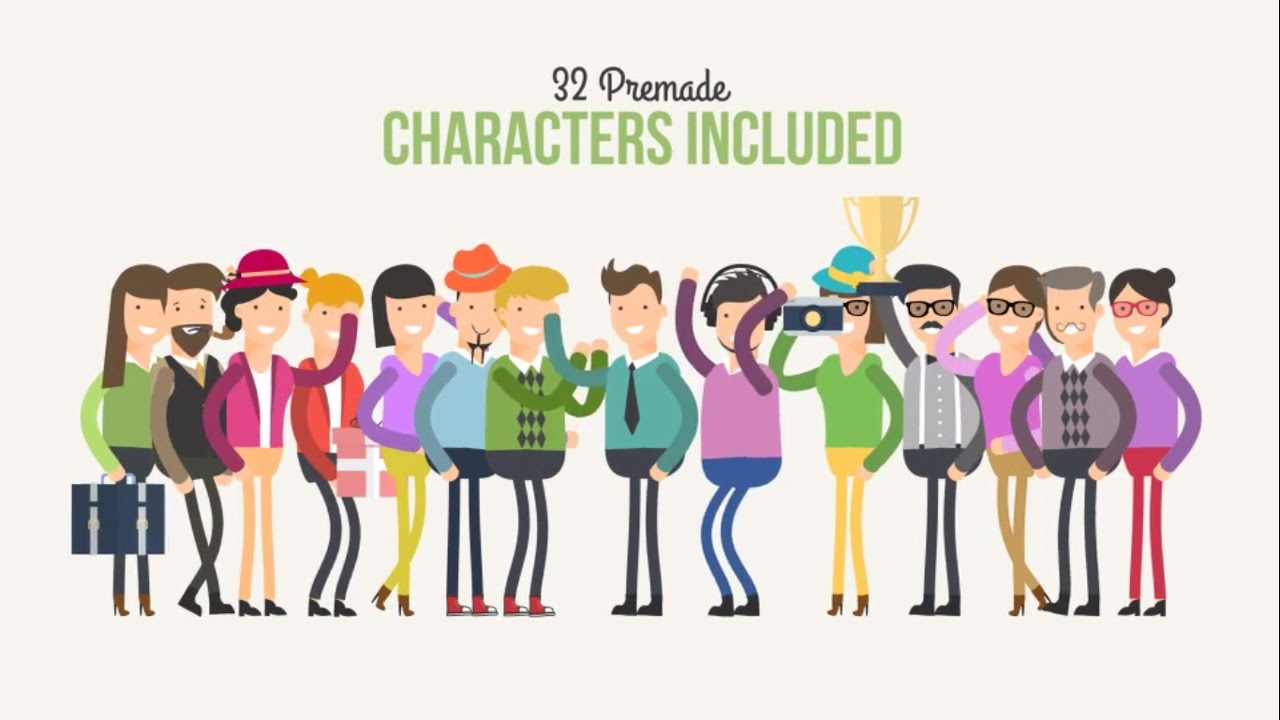 2D Character Animation Explainer - After Effects Template