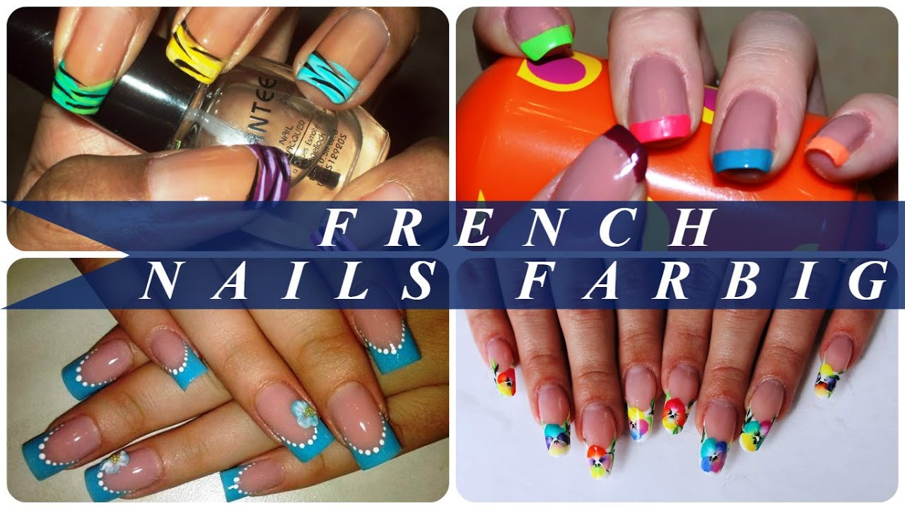 french nails farbig youtube. Black Bedroom Furniture Sets. Home Design Ideas
