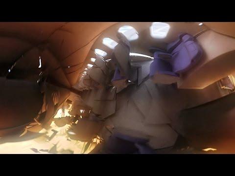 Plane Crash From Inside | 360-degree VR | 4K | 125 fps