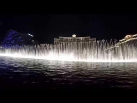 "Las Vegas Bellagio Fountains - Frank Sinatra ""Luck be a lady"" Quality sound"