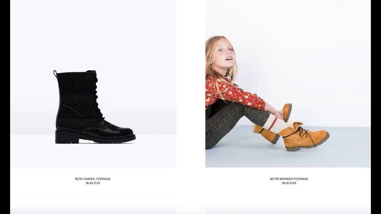 Catálogo Zapatos Zara para Niña España 2015