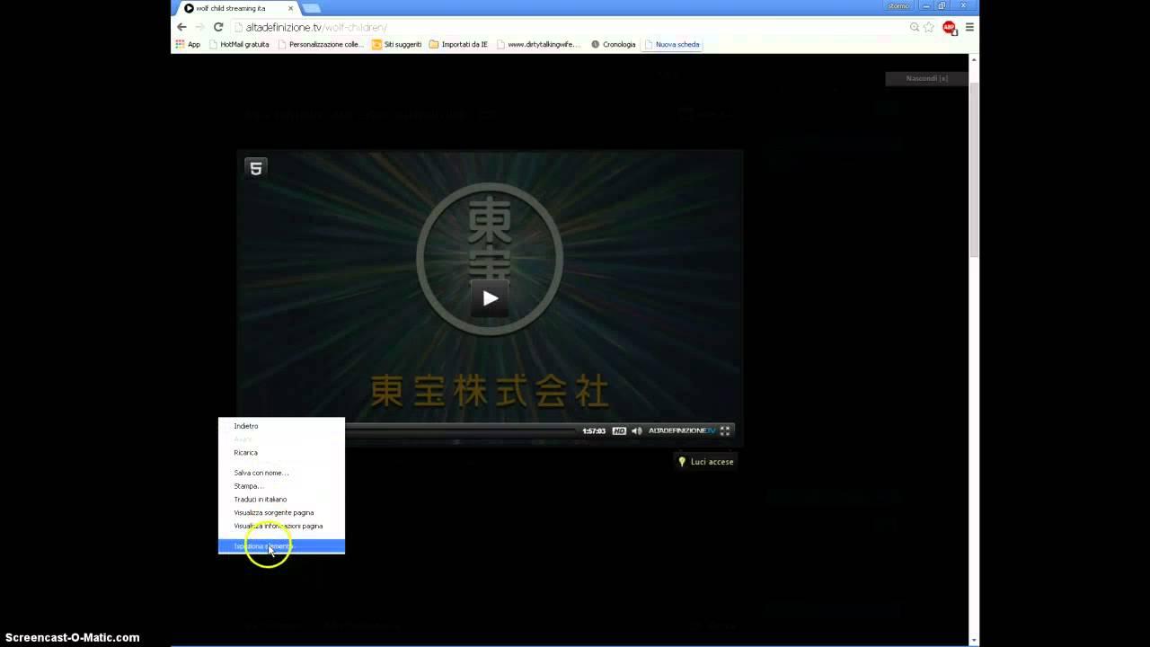 Come scaricare film in hd da altadefinizioneclick Chrome  YouTube