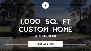 1,000 SQ FT. Full Custom Home