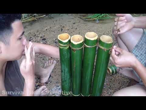 Primitive Technology  Water Pipe Bamboo