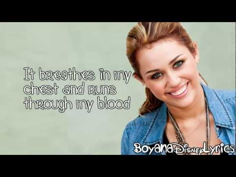 Miley Cyrus - My Heart Beats For Love (Lyrics Video) HD