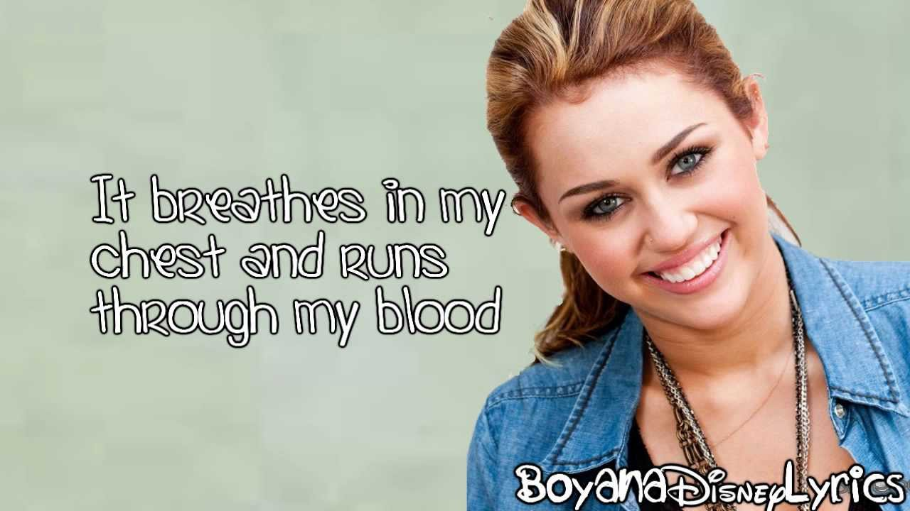 miley cyrus my heart beats for love lyrics video hd youtube