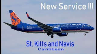 Sun Country Airlines announces new nonstop service to St. Kitts and Nevis in the Caribbean !!!