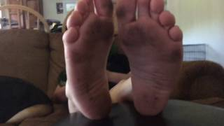 My friends sexy dirty soles