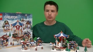 New For 2013!!!! Lego Winter Village Market Review - 10235