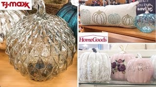 HOMEGOODS & TJ MAXX SHOP WITH ME! HAVE YOU SEEN ALL THE GLAM FALL & HALLOWEEN HOME DECOR!