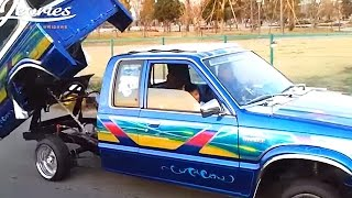 Lowrider Mazda B2200 mini truck beddancer BBLUE Japan