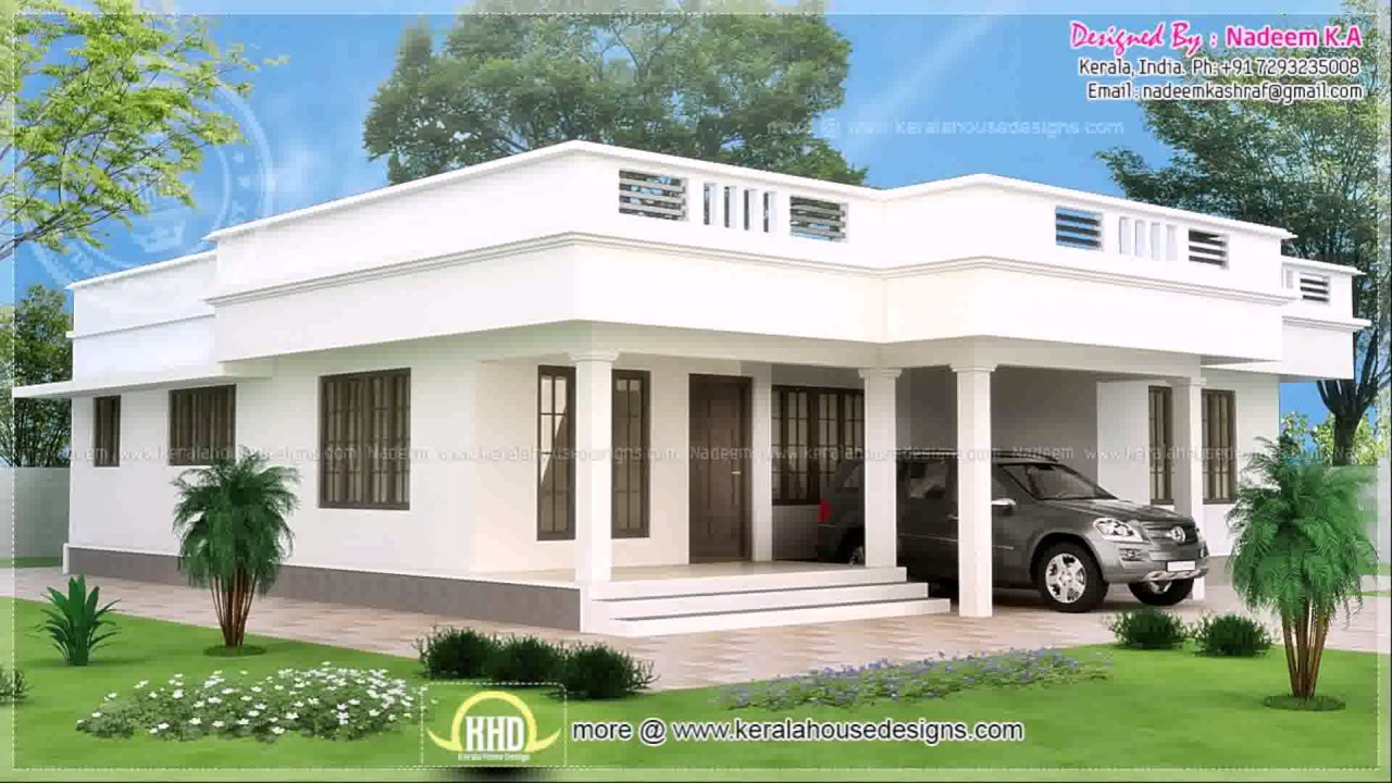 Flat Roof House Designs In India See Description Youtube