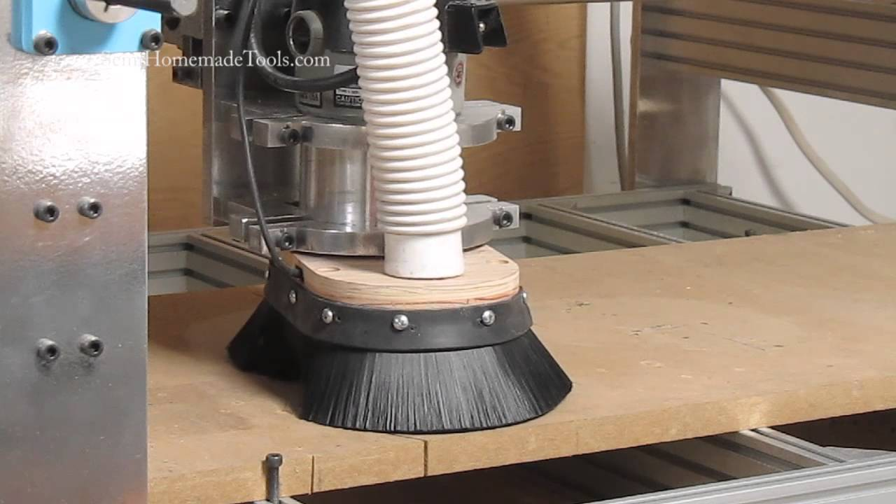 Cnc Router Dust Collection Shoe Skirt Youtube