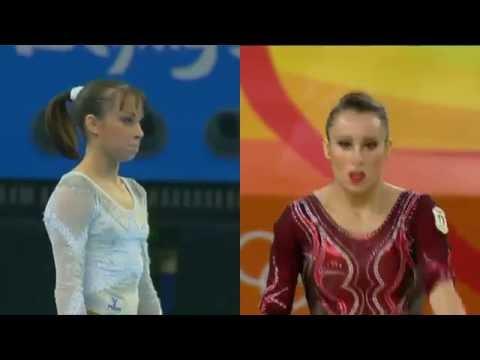 Vanessa Ferrari 2008/2016 Olympics Floor Exercise Comparison