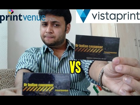 Vistaprint vs printvenue visiting cards how to make visiting youtube premium reheart Images