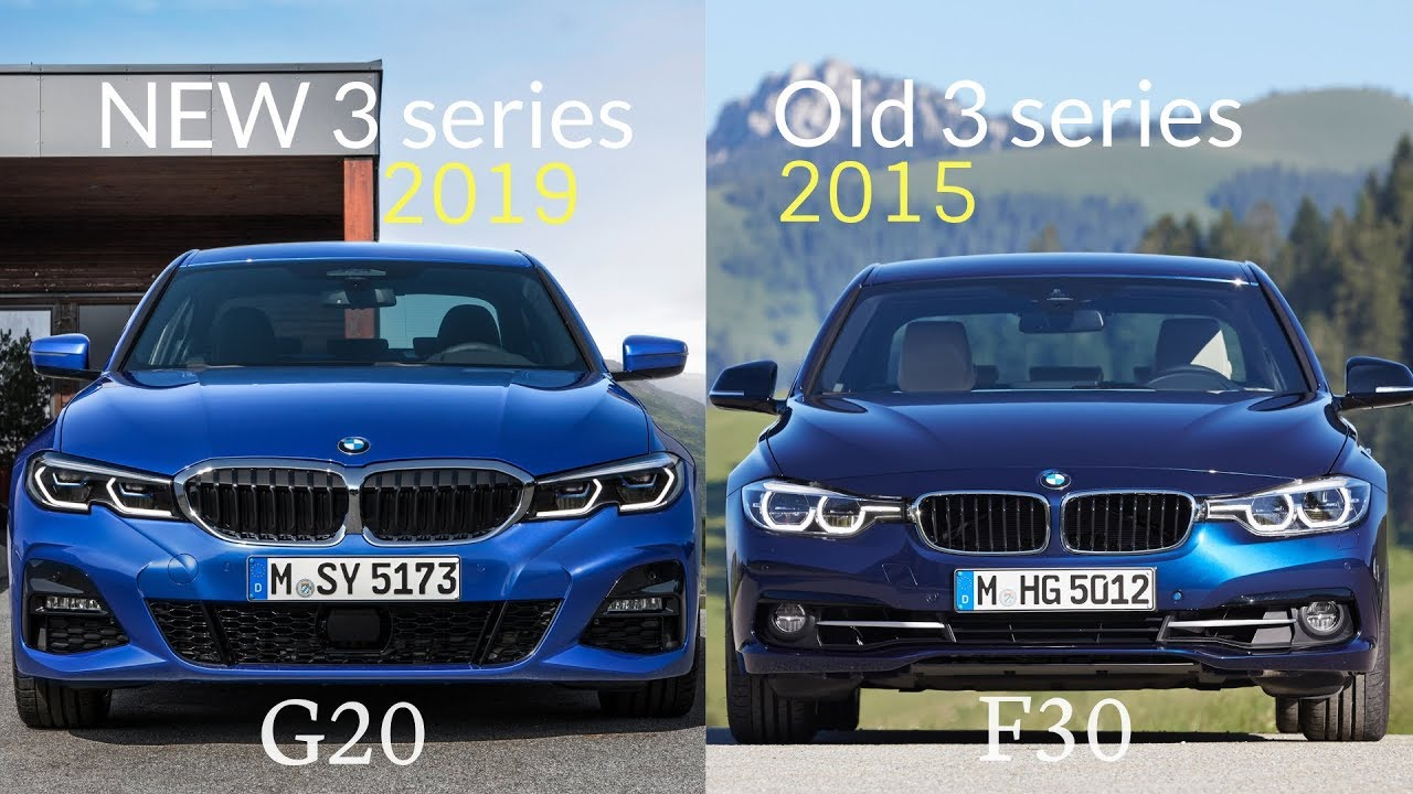 old vs new bmw 3 series sedan 2019 bmw 3 series vs old 3 series youtube. Black Bedroom Furniture Sets. Home Design Ideas