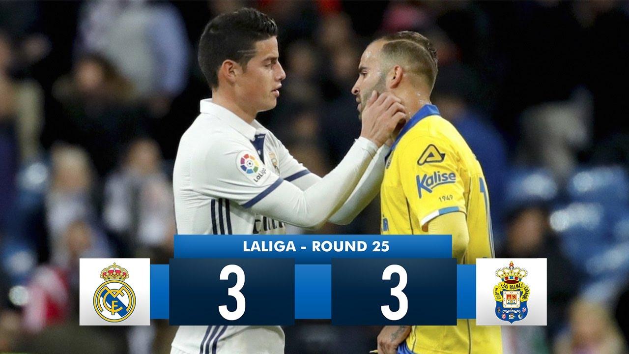 Download Real Madrid 3-3 Las Palmas HD 1080i Full Match Highlights (26/02/17)