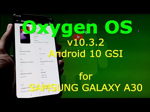 Oxygen OS Android 10 for Samsung Galaxy A30 - 20200515