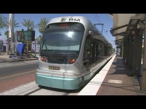 Full Journey On The Valley Metro Line Train From Sycamore To Montebello in Phoenix , AZ