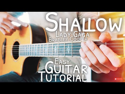 Shallow Lady Gaga Bradley Cooper Guitar Tutorial // Shallow Guitar // Guitar Lesson #567