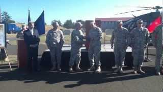 Oregon Army National Guard UH-72A Lakota helicopter roll out ceremony