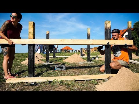 building-our-first-tiny-house-//-foundation-levelling-&-framing-the-floor