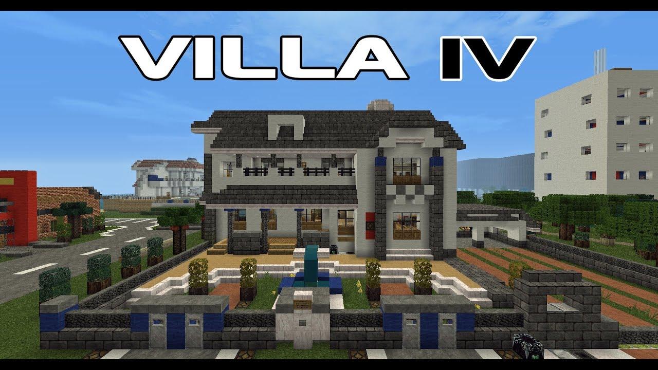 Villa mit alarmanlage lichtsensor und kartenschloss for Minecraft modernes haus download