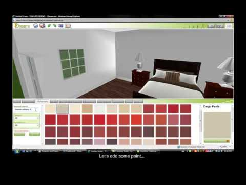 4 Minute Room Design On 3dream 3d Room Planner Youtube