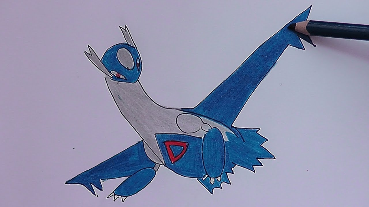 Como Dibujar Y Colorear A Latios Pokemon As Drawing And Coloring Latios