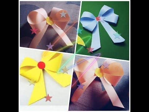 How to make a paper Bow/Ribbon | Easy Origami Bow/Ribbon | Sleepy's Art, Draw & DIY