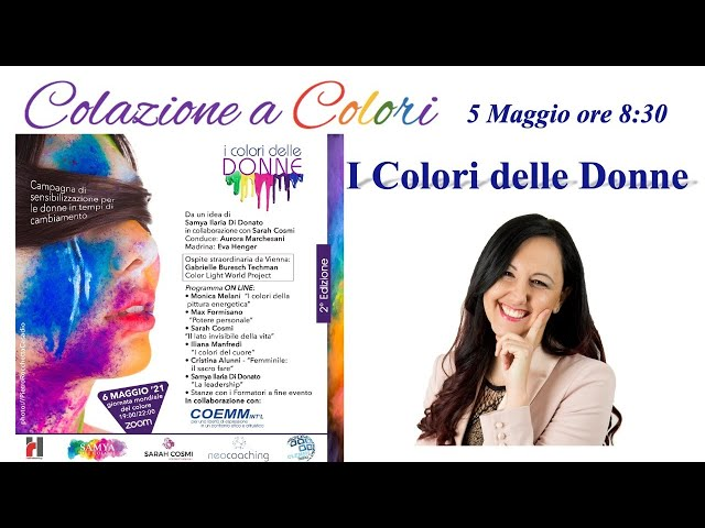 Colazione a colori con Samya- I colori delle donne -  5 Maggio 2021
