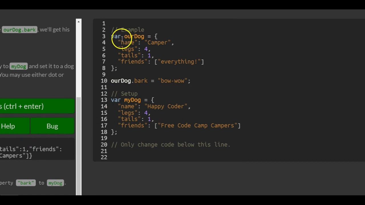 Add New Properties To A Javascript Object Freecodecamp Basic Javascript Youtube