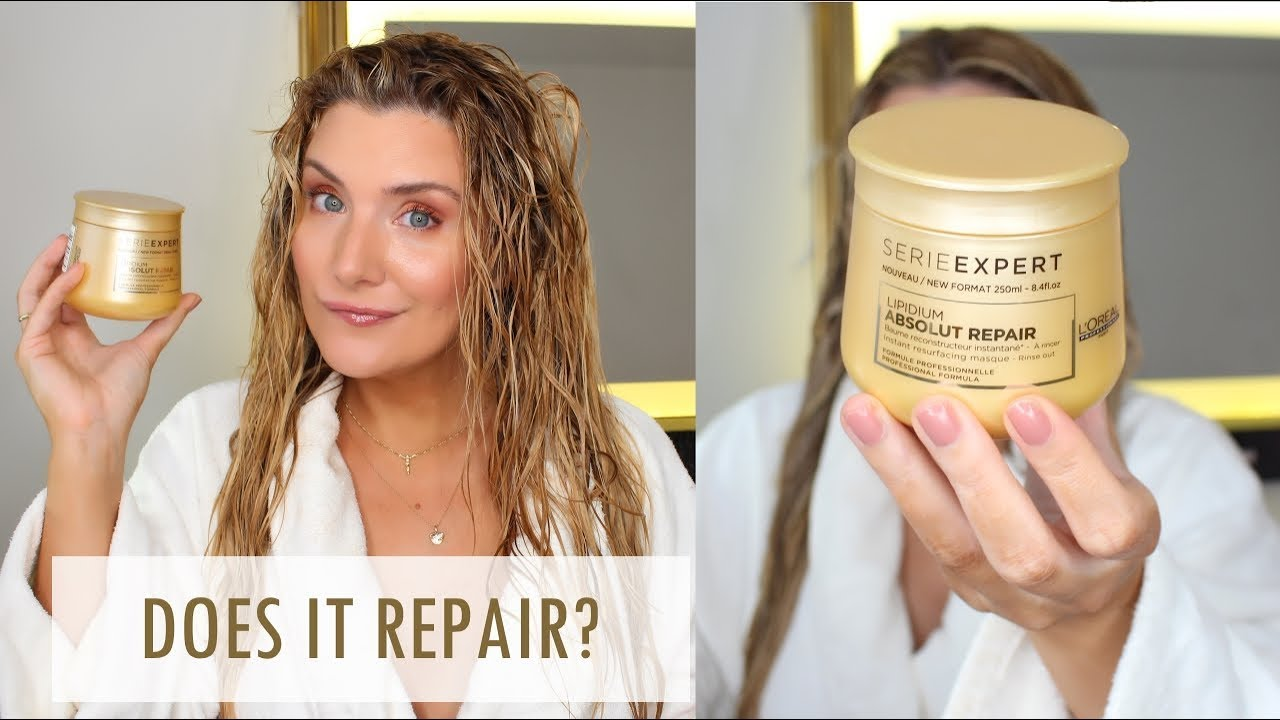 L Oreal Absolut Repair Hair Mask Treatmenttuesdays Youtube