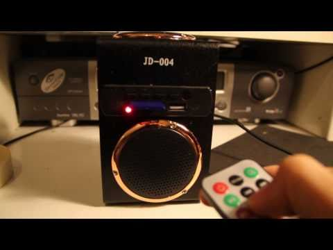mini speaker mp3 fm radio JD-004