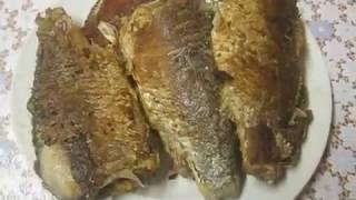 Как жарить Рыбу целиком (шустрый способ). Жарим Карасей и другую Рыбу. How to fry fish carp.